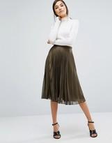 Oasis Metallic Pleated Skirt