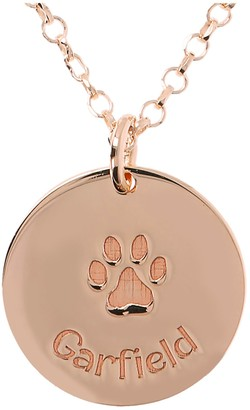 Veronese 18K-Clad Personalized Paw Print Pendant with Chain