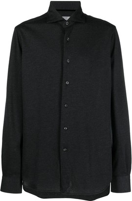Orian Spread Collar Pique Shirt