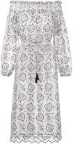 Zimmermann floral embroidery off-shoulder dress