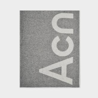 Acne Studios Scarf Toronty Logo In Grey Wool