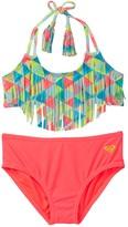 Roxy Geo Fringe Bikini Set (Big Girls)