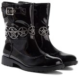 Lelli Kelly Kids Ann Black Patent Jewelled Ankle Boots