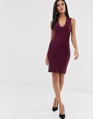 French Connection bandage bodycon dress-Red