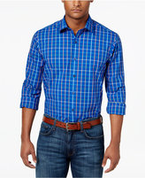 Club Room Men's Multi-Color Grid-Pattern Cotton Shirt, Only at Macy's
