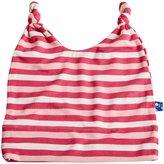 Kickee Pants Print Double Knot Hat - Bubblegum Stripe-12-24 Months