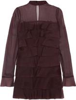 Valentino Tiered silk crepe de chine mini dress