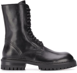 Ann Demeulemeester Lace-Up Army Boots
