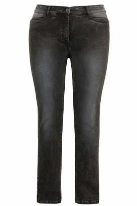 Ulla Popken Women's Jeans mit seitlichem Steinchen-Einsatz Sammy Slim