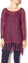 Umgee USA Eggplant Sheer Sweater