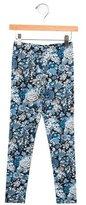 Oscar de la Renta Girls' Floral Print Knit Leggings w/ Tags