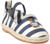 Polo Ralph Lauren White & Navy Stripe Beakon Espadrille - Little Kid & Big Kid