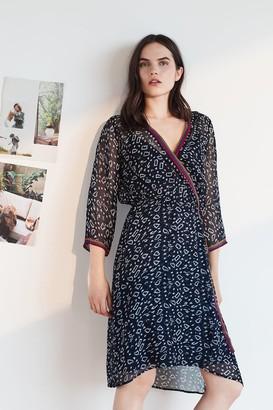 Velvet by Graham & Spencer Ingrid Playa Print Wrap Dress