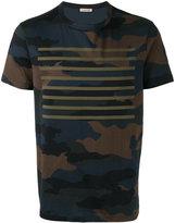 Moncler camouflage striped print T-shirt - men - Cotton - L