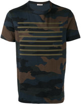 Moncler camouflage striped print T-shirt - men - Cotton - XL