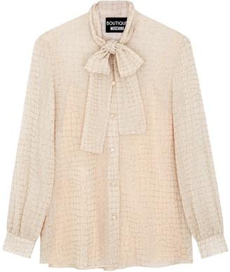 Boutique Moschino Blush printed chiffon blouse