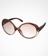 Express Two Tone Round Sunglasses