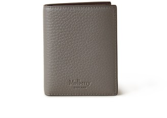 Mulberry Trifold Wallet Charcoal Heavy Grain