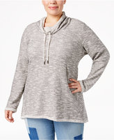 Style&Co. Style & Co Plus Size Funnel-Neck Space-Dyed Top, Only at Macy's