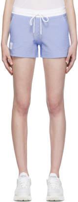 Thom Browne Blue Seersucker Shorts