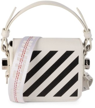 Off-White Baby Diagonal Leather Crossbody Bag