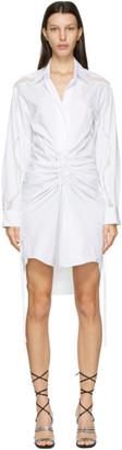CHRISTOPHER ESBER White Cummerbund Lace Shirt Dress