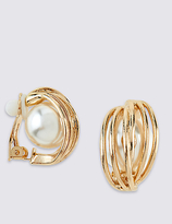 M&S Collection Pearl Effect Clip Earrings