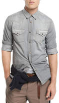 Brunello Cucinelli Leisure-Fit Denim Western Shirt