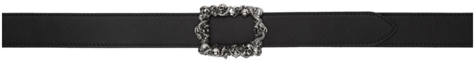 Alexander McQueen Reversible Black and Brown 3D Skull Belt