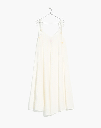 Madewell Solid & Striped Embroidered Voile Cover-Up Maxi Dress