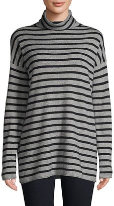 Vince Striped Turtleneck Tunic
