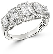 Bloomingdale's Emerald-Cut Diamond 5-Stone Ring in 14K White Gold, 2.0 ct. t.w. - 100% Exclusive
