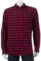 Croft & Barrow Men's Classic-Fit Plaid Flannel Button-Down Shirt
