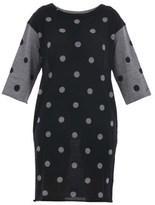 Sun 68 Women's Grey/black Wool Dress.