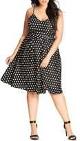 City Chic Polka Dot Dress