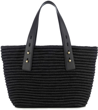 Frame Les Second Medium Raffia Tote Bag