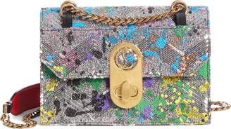 Christian Louboutin Small Elisa Splatter Sequin Leather Crossbody Bag