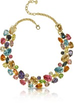 Forzieri Multicolor Crystal and Metal Necklace