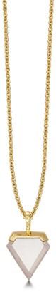 Missoma Rose Quartz Gold Mini Shield Necklace