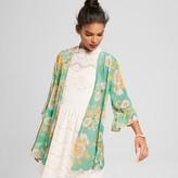 Xhilaration Women's Ruffle Sleeve Kimono Juniors') Green
