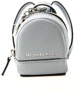 Michael Kors Gray Dove Pebble Leather Mini Rhea Backpack Charm