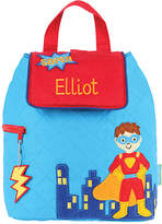 Stephen Joseph Blue Superhero Personalized Quilted Backpack