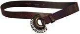 Max Mara Weekend Brown Leather Belt, Size M (90 Cm)