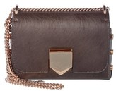 Jimmy Choo Lockett Petite Etched Metallic Spazzolato Leather Shoulder Bag.
