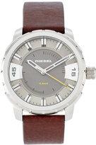 Diesel DZ1724 Silver-Tone & Brown Watch
