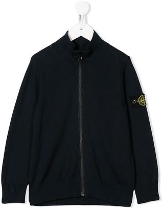 Stone Island Junior Logo Patch Zipped Jacket