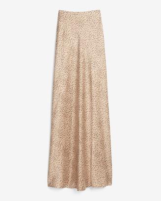 Express High Waisted Animal Print Maxi Slip Skirt