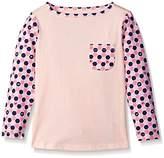 Scout + Ro Little Girls' Long-Sleeve Tile-Print Jersey T-Shirt