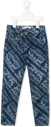 Levi's Logo Graphic Print Skinny Jeans