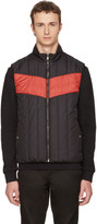 Versace Black and Red Padded Vest